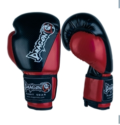 Carbon II Boxing Gloves - Black/Red boxing, boxing gloves, sparring, sparring gloves, training gloves, gym gloves, boxing gloves