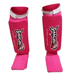 Elastic Shin Insteps Pink Shin Insteps,  shin guard, Dragon Do Shin Instep, Shin Guards for MMA, Muay Thai