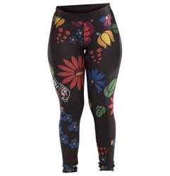 Flower Black Womens Spats dragon do apparel, dragon do, sports bras, fight shorts, mma shorts, spats, compression pants, compression gear, vale tudos, womens mma, wmma, mma, fitness, crossfit, gym, training