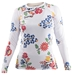 Flower White Rash Guard - RGLW-FLWH-XS
