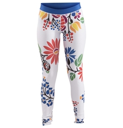 Flower White Womens Spats dragon do apparel, dragon do, sports bras, fight shorts, mma shorts, spats, compression pants, compression gear, vale tudos, womens mma, wmma, mma, fitness, crossfit, gym, training