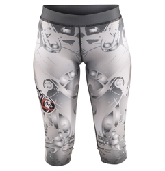 Metallic Capris dragon do apparel, dragon do, sports bras, fight shorts, mma shorts, spats, compression pants, compression gear, vale tudos, womens mma, wmma, mma, fitness, crossfit, gym, training