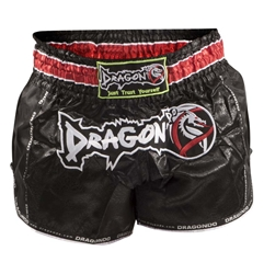 Retro Black Muaythai Shorts dragon do, muay thai shorts, muaythai shorts,  compression gear, compression pants, sports bras, vale tudos, compression shirts, rash guards, t-shirts, gym clothes, gym, training, weight lifting, yoga pants, capris, training clothes, spats