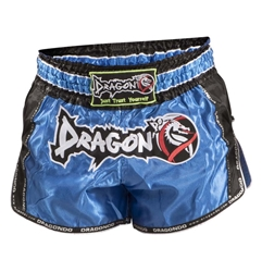 Retro Blue Muaythai Shorts dragon do, muay thai shorts, muaythai shorts, compression gear, compression pants, sports bras, vale tudos, compression shirts, rash guards, t-shirts, gym clothes, gym, training, weight lifting, yoga pants, capris, training clothes, spats