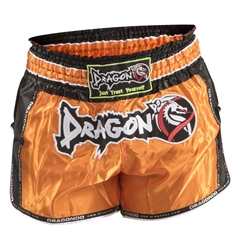 Retro Orange Muaythai Shorts dragon do, muay thai shorts, muaythai shorts,  compression gear, compression pants, sports bras, vale tudos, compression shirts, rash guards, t-shirts, gym clothes, gym, training, weight lifting, yoga pants, capris, training clothes, spats