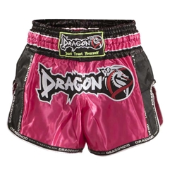 Retro Pink Muaythai Shorts dragon do, muay thai shorts, muaythai shorts,  compression gear, compression pants, sports bras, vale tudos, compression shirts, rash guards, t-shirts, gym clothes, gym, training, weight lifting, yoga pants, capris, training clothes, spats