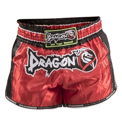 Retro Red Muaythai Shorts dragon do, muay thai shorts, muaythai shorts,  compression gear, compression pants, sports bras, vale tudos, compression shirts, rash guards, t-shirts, gym clothes, gym, training, weight lifting, yoga pants, capris, training clothes, spats
