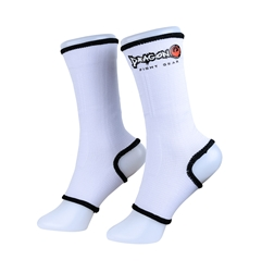 White Ankle Supports dragon do, ankle supports, ankle braces, ankle support socks, groin guard, steel groin guard, cup protector, groin protector,  hand wraps, gel gloves, quick gel hand wraps, gel hand wraps, boxing gloves, training gloves, sparring gloves, fitness, boxing, mma, jiu jitsu, bjj, training equipment, kick boxing, muay thai, muaythai, cardio boxing, cardio, aerobics, punching bags, protective equipment, hand wraps, elastic shin in steps, shin guards, elastic shin guards, shin in steps, mexican hand wraps, elastic hand wraps