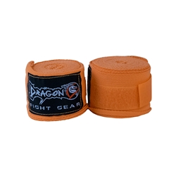Orange Hand Wraps 3.5 mt/140in dragon do, hand wraps, ankle supports, ankle braces, ankle support socks, groin guard, steel groin guard, cup protector, groin protector,  hand wraps, gel gloves, quick gel hand wraps, gel hand wraps, boxing gloves, training gloves, sparring gloves, fitness, boxing, mma, jiu jitsu, bjj, training equipment, kick boxing, muay thai, muaythai, cardio boxing, cardio, aerobics, punching bags, protective equipment, hand wraps, elastic shin in steps, shin guards, elastic shin guards, shin in steps, mexican hand wraps, elastic hand wraps