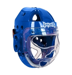 Taekwondo Headgear with Face Shield - Blue Taekwondo Headgear with Face Shield, taekwondo, protection, face protection, taekwondo headgear